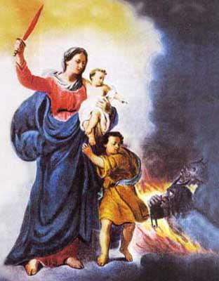 Resultado de imagem para Nossa Senhora defensora
